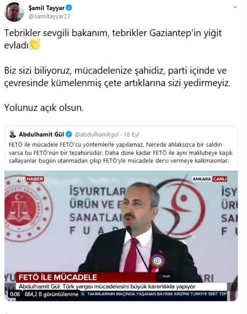AKP'li Şamil Tayyar da Bakan Gül'e sahip çıkıp Pelikancıları