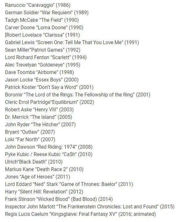 Sean Bean'in oynarken can verdiği karakterler