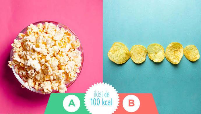 Film izlerken keyfine keyif katan hangisi? Patlamış mısır mı, cips mi?