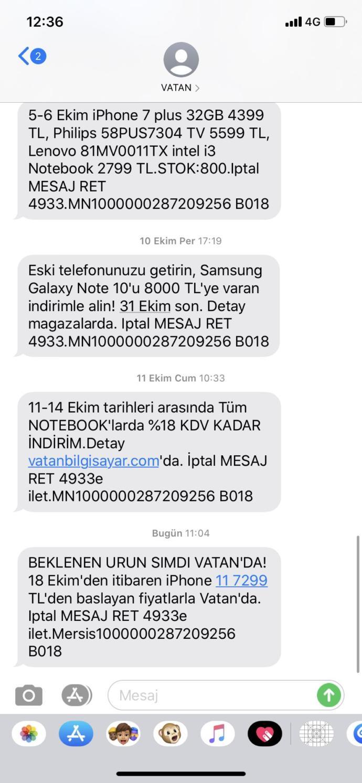 Vatanda İphone 11 Bugün 7299 TL Duyan/Alan Var mı?