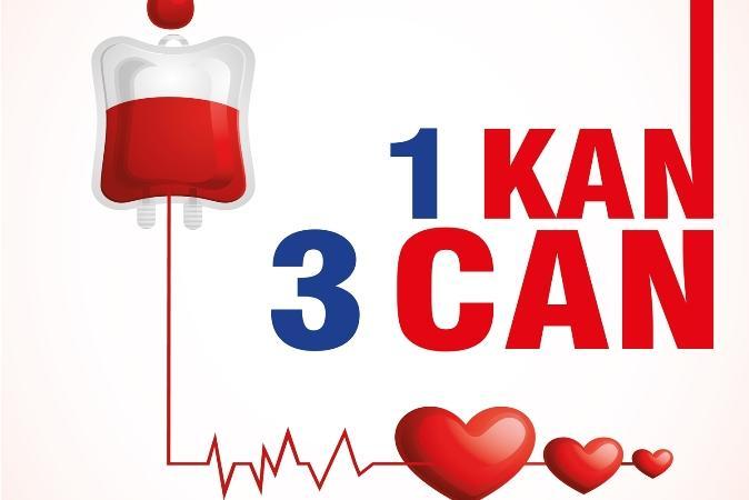 Bağışlanan her kan kurtarılan üç candır, kan veriyor musunuz?