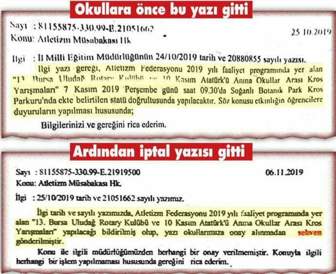 Bursada, 10 Kasım koşusuna Milli Eğitim engeli! Okullarımız bu koşuya katılmayacak. Bu skandal hakkında ne düşünüyorsunuz?