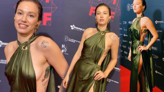 Kızlar, Melisa Şenolsunun çok konuşulan elbisesi hakkındaki düşünceleriniz nedir?