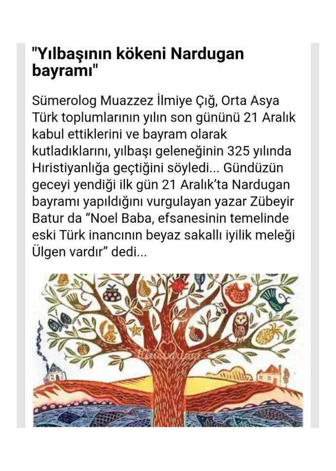 🎄22 Aralık Nardugan/Yeniden Doğuş Bayramı🎄 Noel Baba & Çam süsleme geleneğinin, Eski Türklerden geldiğini biliyor musunuz?