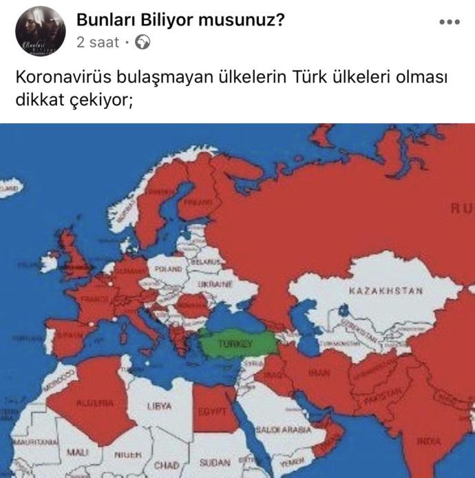 Korona virüsü bulaşmayan ülkelerin Türk ülkeleri olması şaşırtıcı ve korkutucu değil mi?