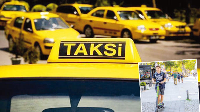 Taksicilerin yeni hedefi elektrikli Scooter! Sizce bu sefer kim kazanır?
