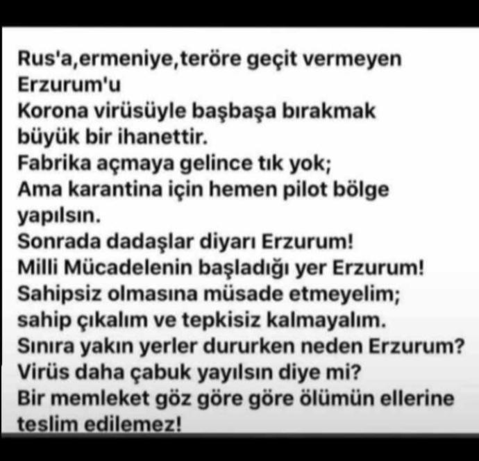 Sınırlar da ki hastalar neden Erzuruma gönderiliyor?