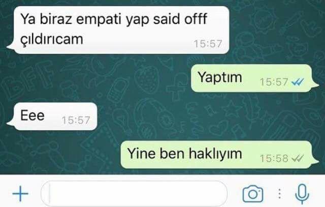 yaa said off çıldıVıcammm. s. s. s