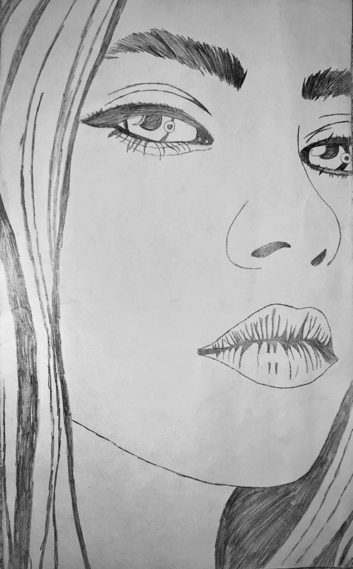 Billie Eilish ablamı çizdim , sizce nasıl olmuş?