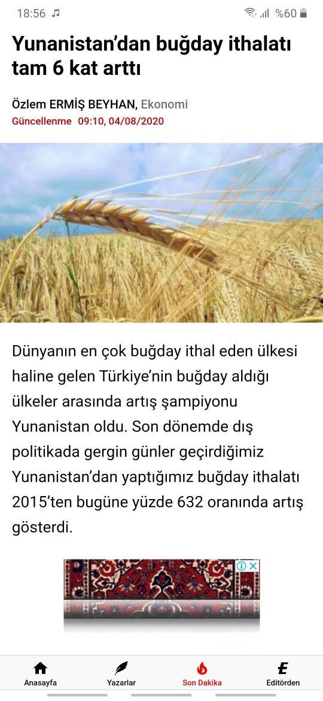Türkiye tarımda bile başka ülkere muhtaç haldemi?