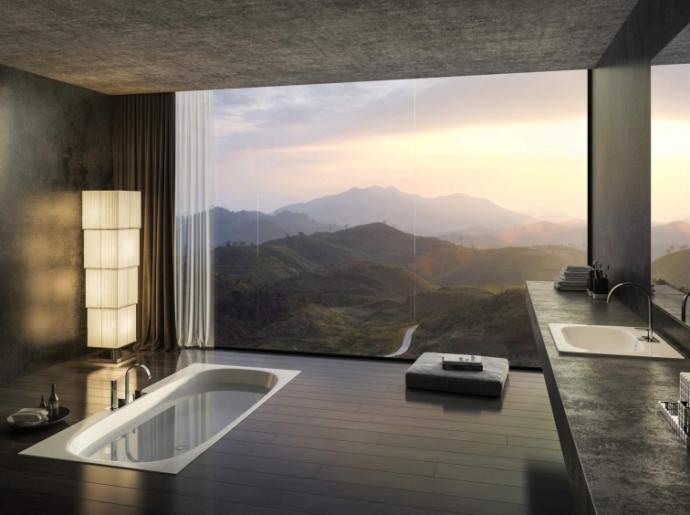 Manzaralı banyolar hoşunuza gidiyor mu?