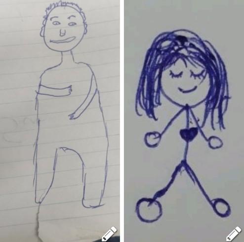 Hangimizin çizimi daha güzel oldu?