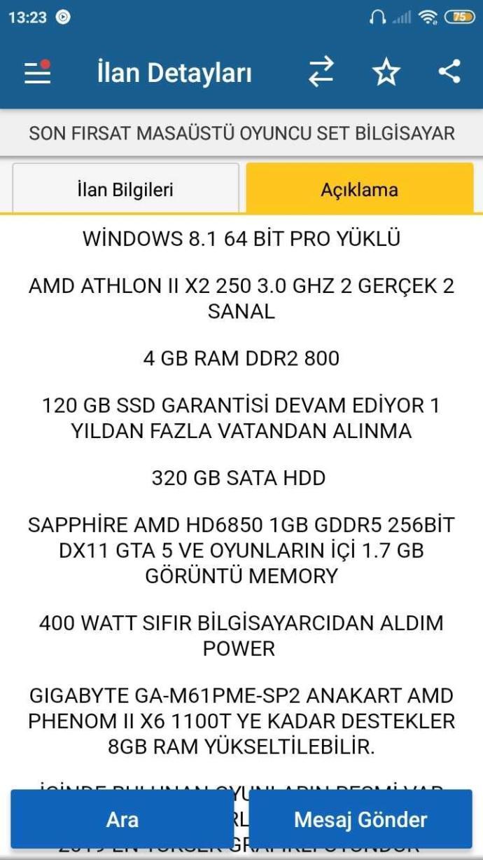 Bu PC alınır mı set halinde 1550 TL?
