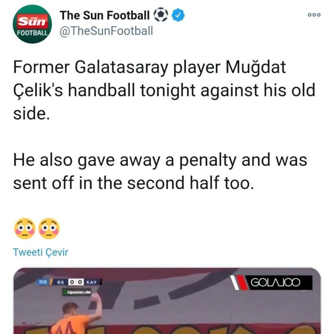 Galatasaray-Kayserispor maçında penaltı yaptırma ve kırmızı kart sebebiyle Muğdat Çelik eleştiri hedefi oldu. Ne düşünüyorsunuz?