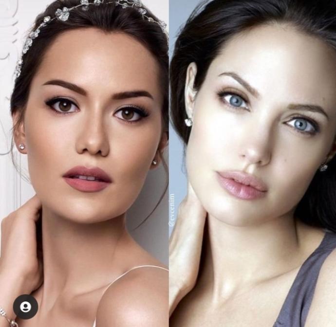 Fahriye Evcen Sizce de Angelina Jolie ye benzemiyor mu?