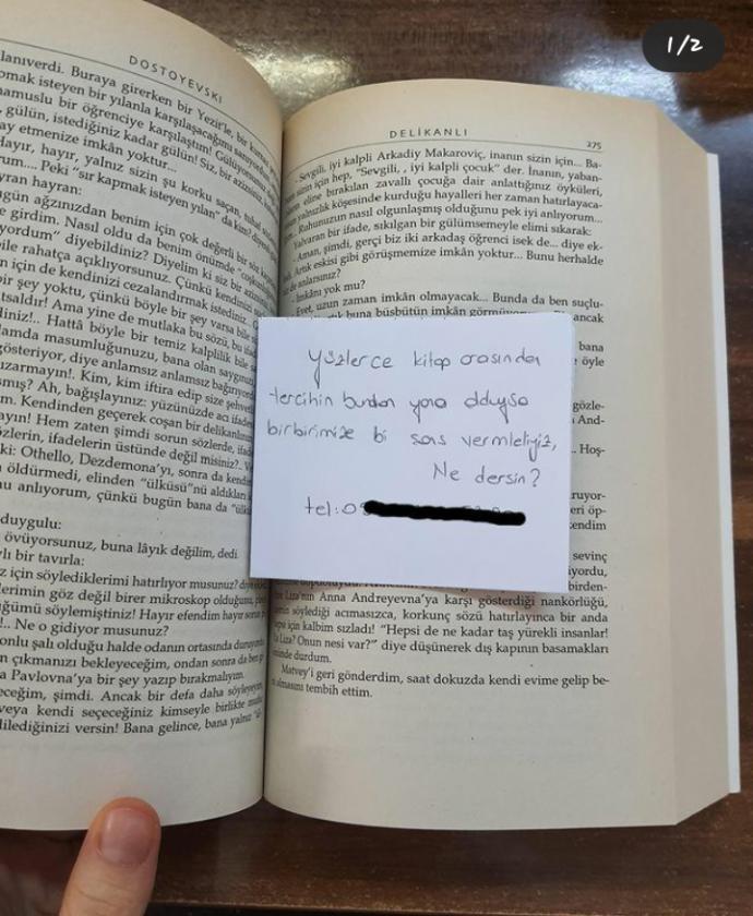Böyle bir not bulsanız o kişiye ulaşır mıydınız?