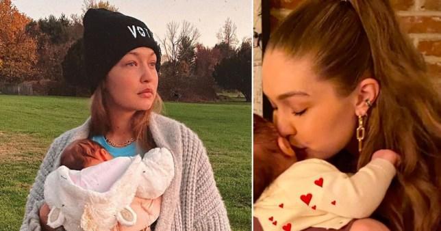 Gigi Hadidde hala bebeğinin yüzünü göstermedi!
