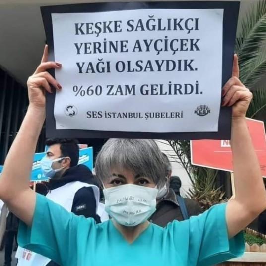 Sağlıkçı kardeşimizin protestosu hakkında sen ne düşünüyorsun?