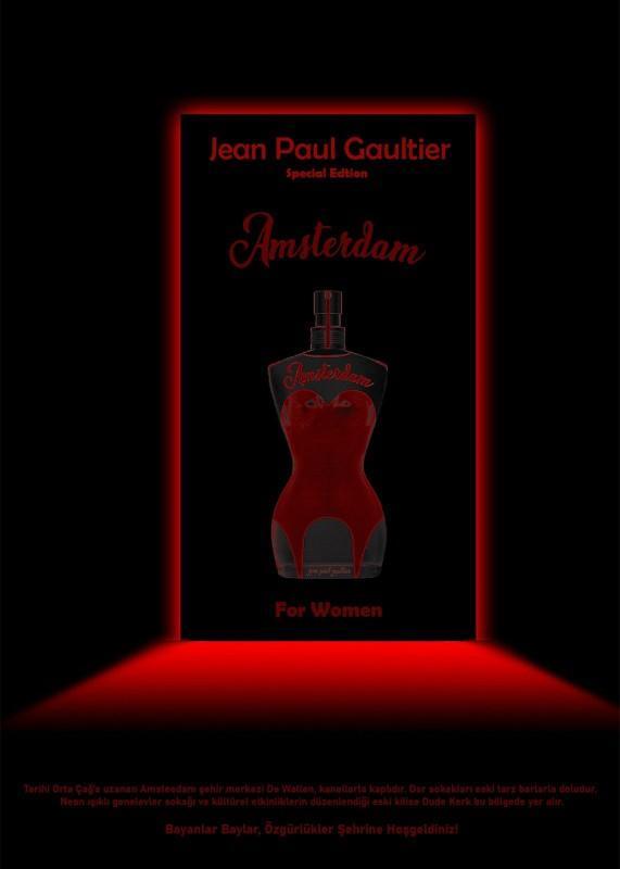 Jean Paul Gaultier Amsterdam Serisi için tasarladığım parfüm şişesi ve posteri sizce nasıl duruyor?