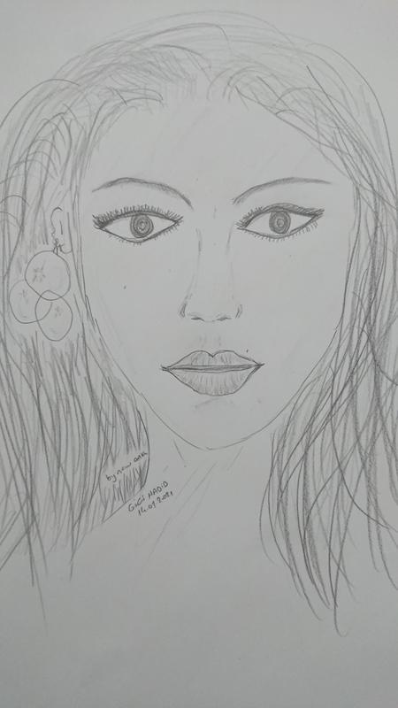 Gigi Hadid kara kalem çalışmam