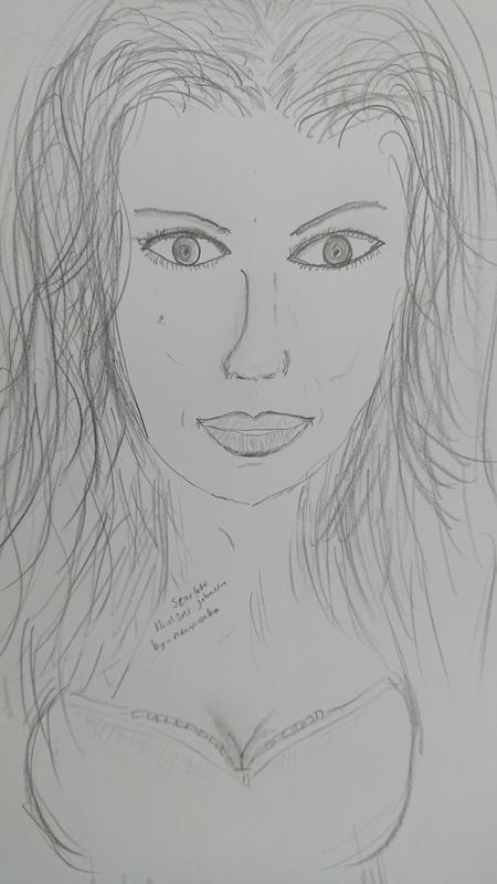 Scarlett Johansson çizdim başarılı mı?