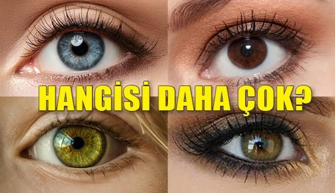 En güzel göz rengini seçiyoruz?