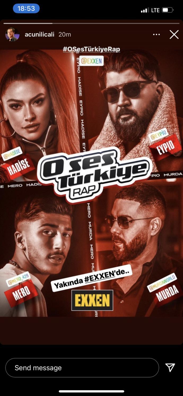 O Ses Türkiye Rap jürileri belli oldu. Yakında Exxende. Programı izleyecek misiniz?