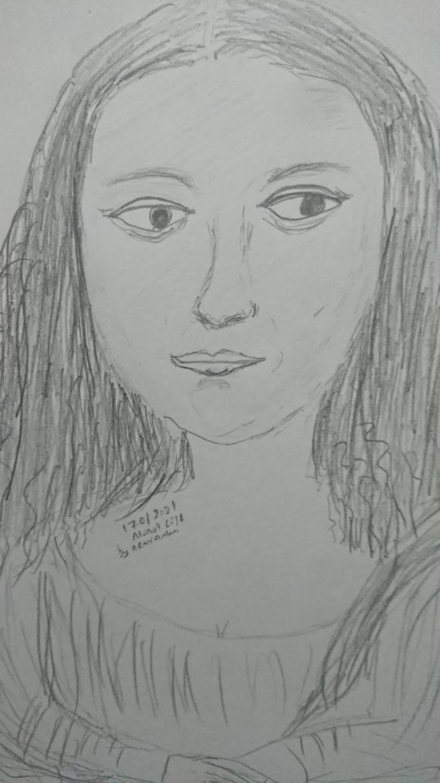 Mona Lisayı çizdim başarılı mı?