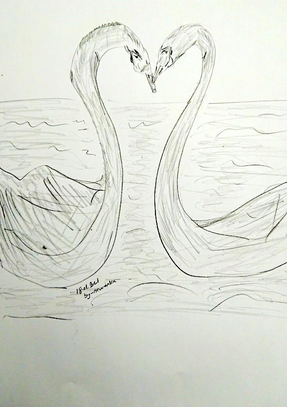 Aşkın resmi , kara kalem çalışmam
