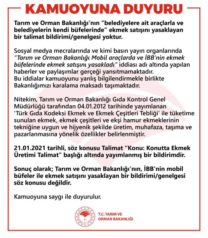 İstanbulda mobil ekmek büfelerini yasaklayan bakanlık gece yarısı sosyal medya baskısından çark etti! Ekmekle oynanır mı?