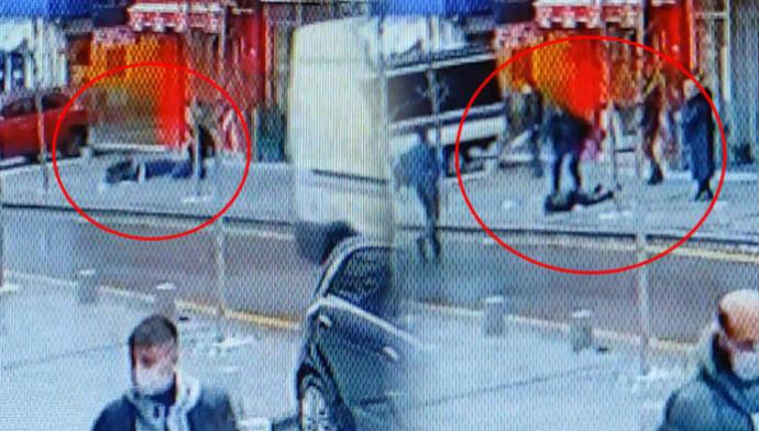 Yolda yürürken başına adam düştü! Sizin başınıza daha önce ne düştü?