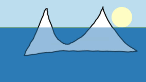 Eğlenceye var mısın: Kendi buzdağını çizip paylaşır mısın?
