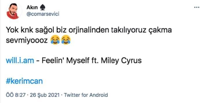 Kerimcan Durmazın Peşimde şarkısının çalıntı iddiası hakkında düşünceleriniz neler?