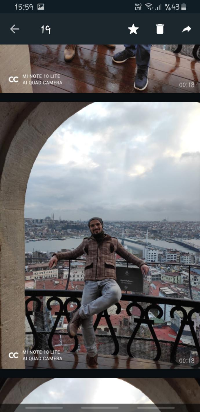 Yeni atanmış hoca, Galata minaresinde 😃