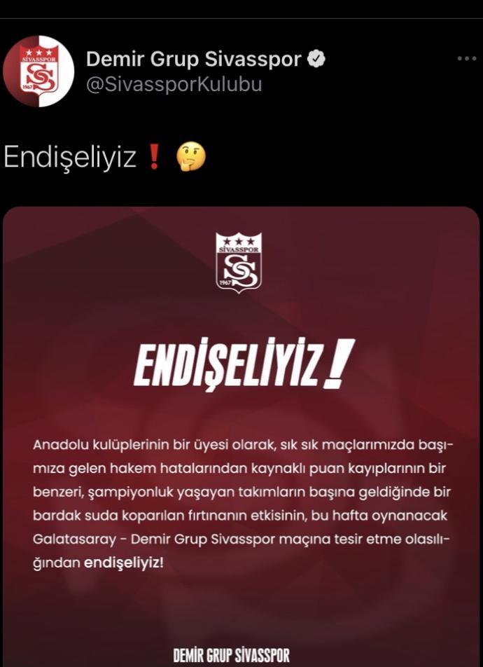 Anadolu takımları , niçin Galatasaray maç öncesi açıklamalar yapar?
