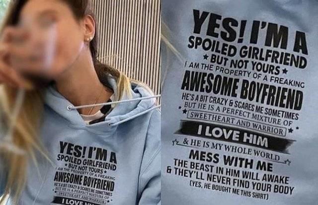 Sevgilimin malıyım tişörtü