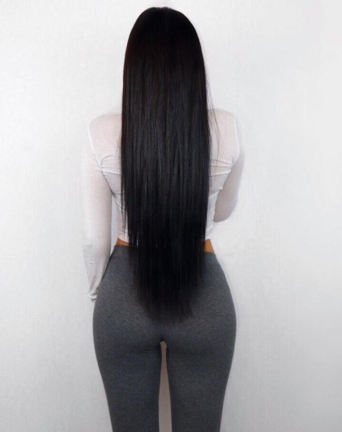 Saçlarım bu kadının saçları gibi siyah, parlak ve uzun olsun istiyorum. Bunun için ne yapmalıyım?