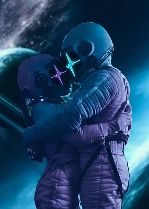Uzay boşluğunda öpüşmeye 🤤