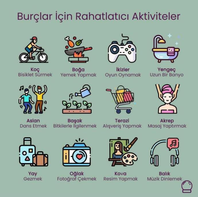 Sizin için rahatlatıcı aktivite hangisi?