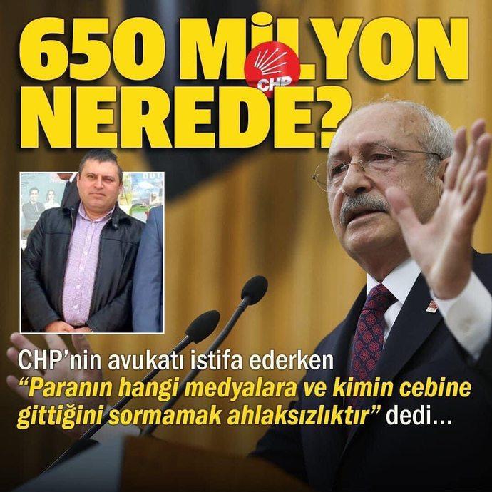 CHPnin Avukati 650 Milyon icin ahlaksizlikla sucladi, avukat haklimi?