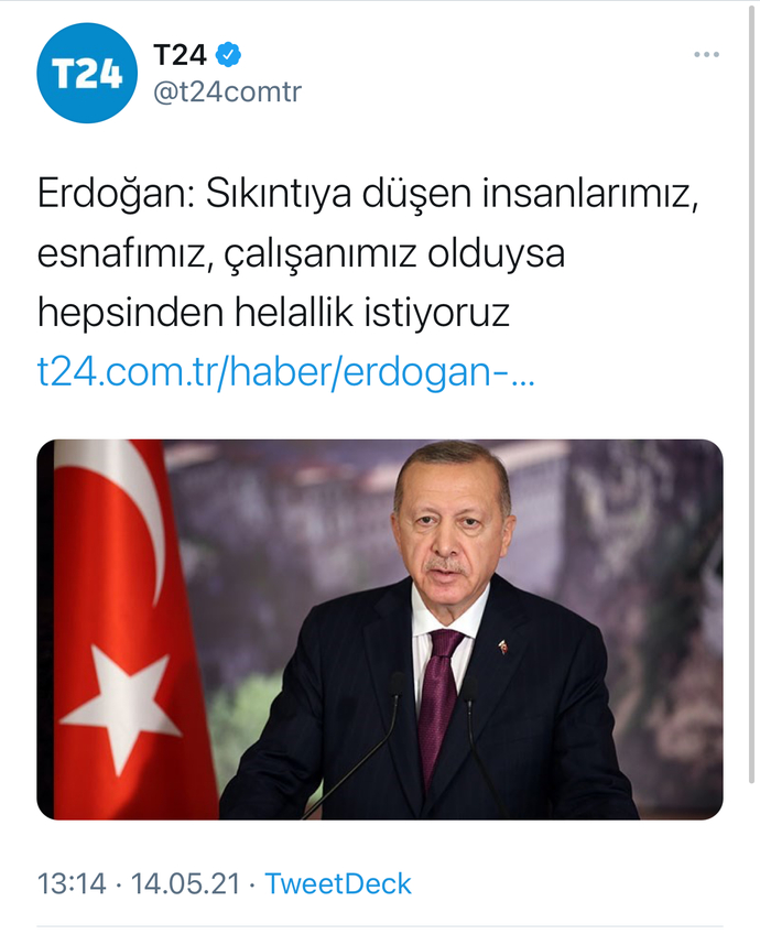 Erdoğan'a hakkınız helal ediyor musunuz?