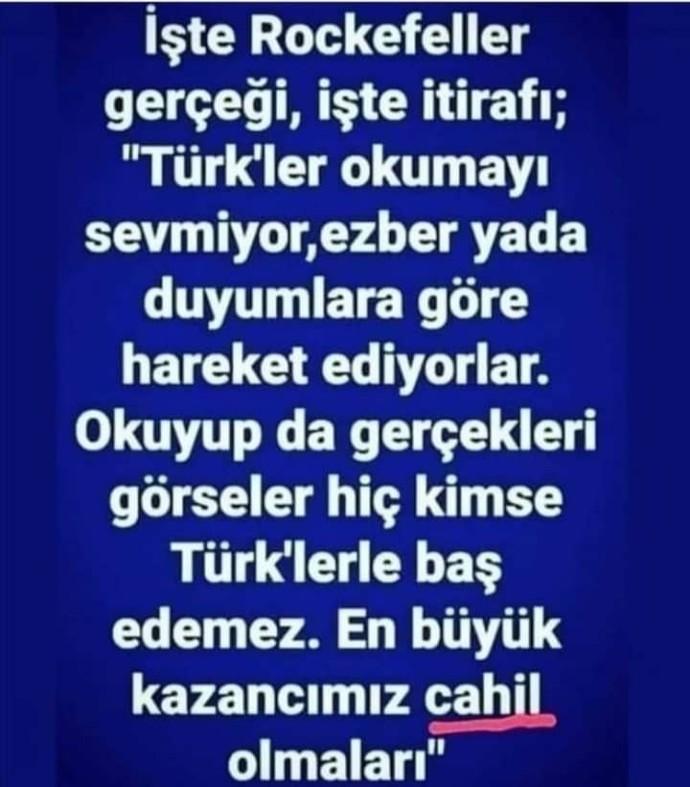 Peki sizce biz Türkler çok mu cahiliz?