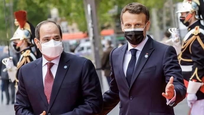 Abdül Fettah el-Sissi ve Emmanuel Macron Pariste görüştü
