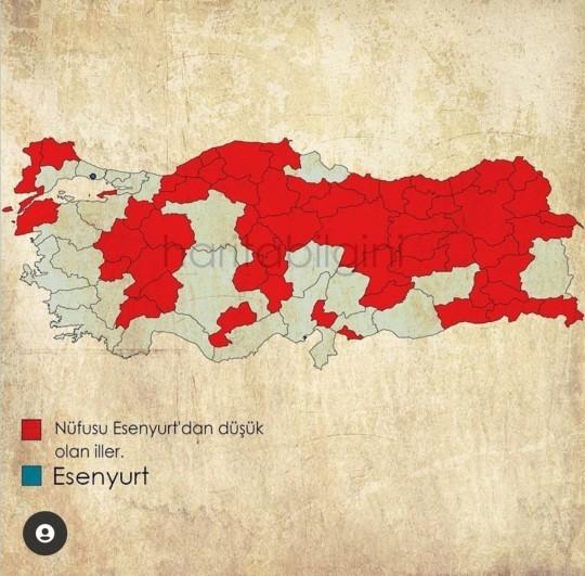 İstanbulun Esenyurt ilçesi nüfusu ile 55 ili geride bıraktı. Ne düşünüyorsunuz?