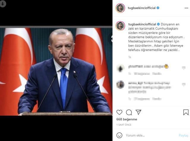 Tuğba Ekinci, Erdoğandan Geçinemiyoruz diyen sanatçılar adına özür diledi! Herkes çok mu rahat geçiniyor?
