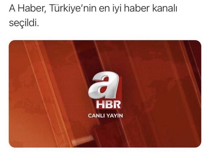A Haber Türkiye'nin en iyi haber kanalı seçildi, düşünceniz nedir?