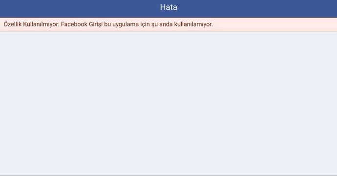 Oyuna girerken neden böyle Facebook hatası alıyorum?