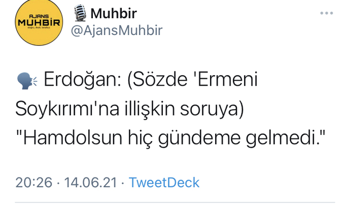 Erdoğan Ermeni soykırım yasasını kabullendi mi?