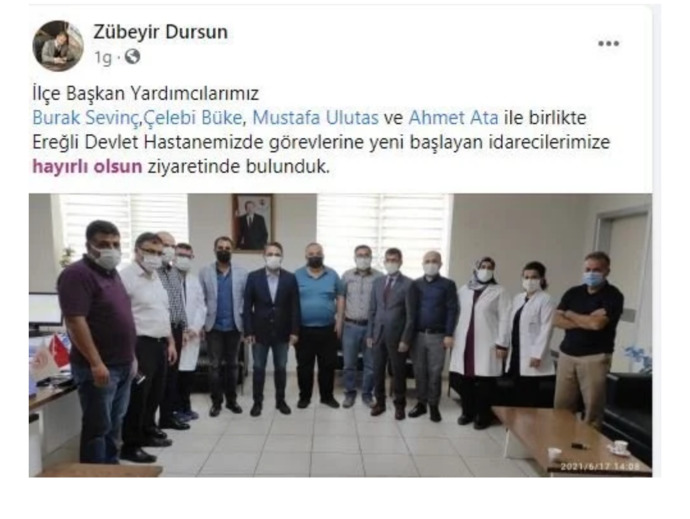AKPli eski belediye başkanı yardımcısı devlet hastanesine müdür olarak atandı. Devlette Liyakat mı yoksa Riyakat mı mevcut?