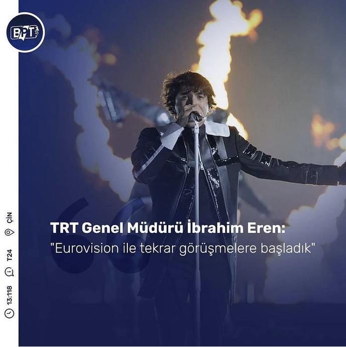 TRT Genel Müdürü İbrahim Eren Eurovision ile tekrar görüşmelere başlandığını duyurdu. Ne düşünüyorsunuz?